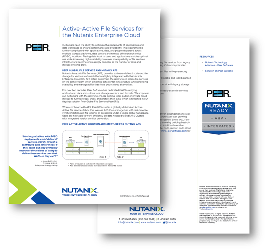 Nutanix Solution Brief
